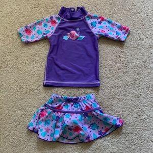 UV Skinz Girls 2 piece swim set